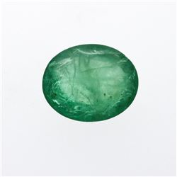 6.32 ct. One Oval Cut Natural Emerald