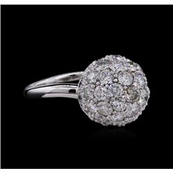 4.06 ctw Diamond Ring - 14KT White Gold