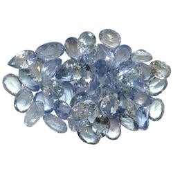 10.17 ctw Oval Mixed Tanzanite Parcel