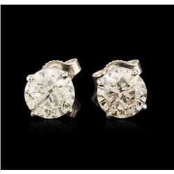 14KT White Gold 2.70 ctw Diamond Stud Earrings