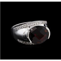 Crayola 5.10 ctw Garnet and White Sapphire Ring - .925 Silver