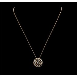 0.81 ctw Diamond Pendant & Chain - 14KT Yellow, White, And Rose Gold