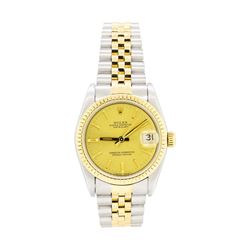 Rolex 18KT Yellow Gold and Stainless Steel Oyster Perpetual Datejust