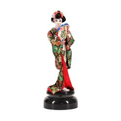 Beijing Silk Figure Doll on Stand- Satin and Silk Garb