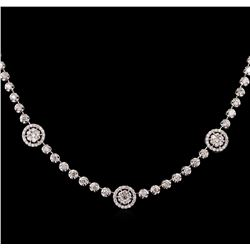 2.53 ctw Diamond Necklace - 14KT White Gold