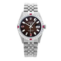 Rolex Pre-owned 36mm Mens Brown Dial Stainless Steel - REF-610X3K