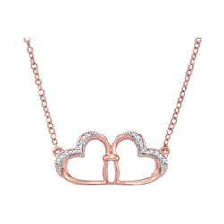0.06 CTW Diamond Heart Love Pendant 10KT Rose Gold - REF-12W2K
