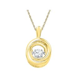 0.25 CTW Diamond Twinkle Moving Solitaire Pendant 10KT Yellow Gold - REF-44Y9X