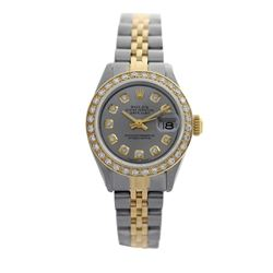 Rolex Pre-owned 26mm Womens Custom Grey Two Tone - REF-530Y3W