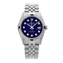 Rolex Pre-owned 36mm Mens Blue Dial Stainless Steel - REF-580H4N