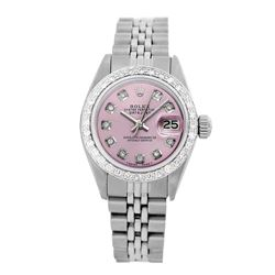 Rolex Pre-owned 26mm Womens Custom Pink Stainless Steel - REF-470R3M