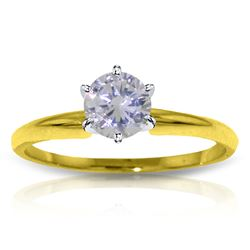 Genuine 0.40 ctw Diamond Anniversary Ring Jewelry 14KT Yellow Gold - REF-123V3W