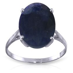 Genuine 8.5 ctw Sapphire Ring Jewelry 14KT White Gold - REF-85H2X