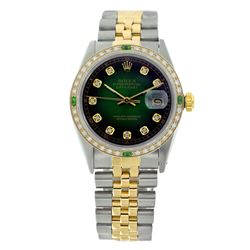 Rolex Pre-owned 36mm Mens Green Vigenette Two Tone - REF-610K3X