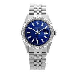 Rolex Pre-owned 36mm Mens Blue Stainless Steel - REF-570W4Y