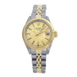 Rolex Pre-owned 26mm Womens Champagne Two Tone - REF-440K3X