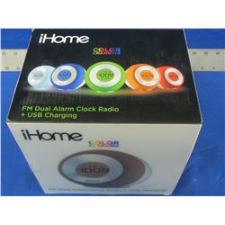 i-Home color changing alarm clock