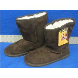 Dawgs microfibre womens winter boots size 7 brown