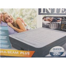 """Intex Queen 22""""high dura-beam airbed with built in pump"""