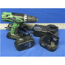 18 volt Hitachi drill / charger / and 2 batteries