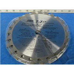 """lot of 3 new 7 1/4"""" carbide 24 tooth industrial saw blades"""