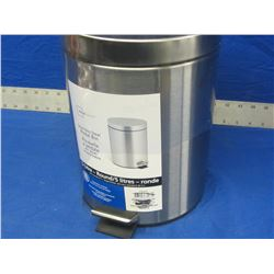 5 litre stainless steel waste bin with foot pedal