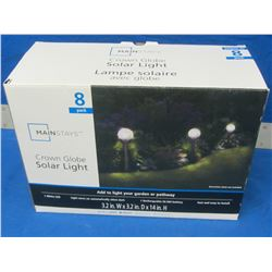 8 pack of solar lights / crown globe