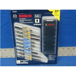 Bosch 14 piece jig saw blade set with case