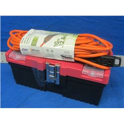 Toolbox and 32ft outdoor electrical cord