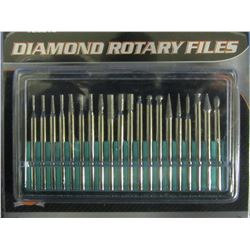 Diamond Rotary files 20 piece
