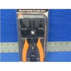 Snap ring plier set 4 in 1