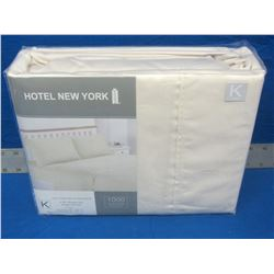 Hotel New York 4 piece King sheet set / 1000 thread count