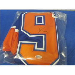Ryan Nugent Hopkins # 93 Hand Signed Oilers jersy with Becket C.O.A