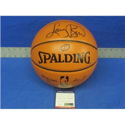 Larry Bird Hand Signed NBA game ball with C.O.A from P.S.A