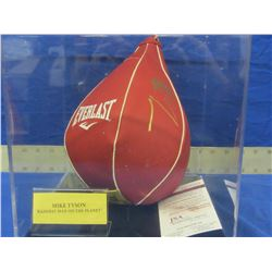 Mike Tyson Hand Signed Boxing Speed bag only with C.O.A from J.S.A