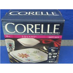 Corelle 16 piece square dinnerware set