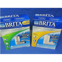 2 Brita water filters / chrome and white