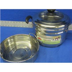New Stainless steel multi use soup pot/ steamer