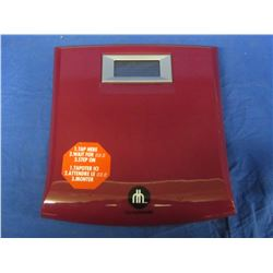 New Home trends Bathroom precision scale / red