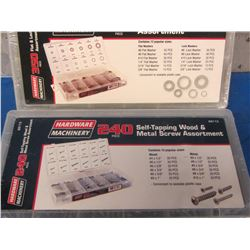 350 piece & 240 piece screw and washer assortment