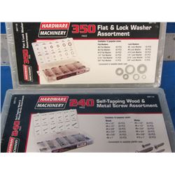 351 piece & 240 piece screw and washer assortment