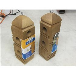 Set of 2 Woodpecker suet Feeders