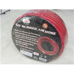 50ft Rubber Air Hose / brass fittings