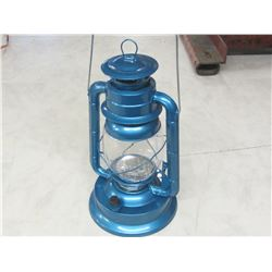 Blue Metal 21 LED Hurricane Lantern
