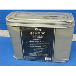 King Bamboo comfort 1800 sheet set 4 pc.