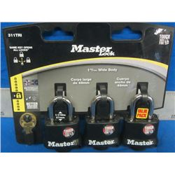 Master Locks set of 3 cut and weather resistant