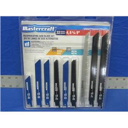 MasterCraft 32 piece sawzall/Recip Blades with case