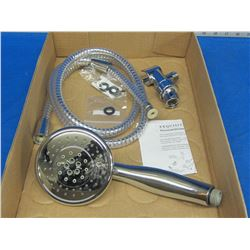 New 5 function hand held shower head with hose & fittings