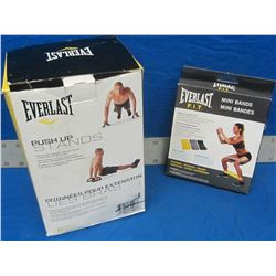 Everlast push up stands & Everlast mini bands