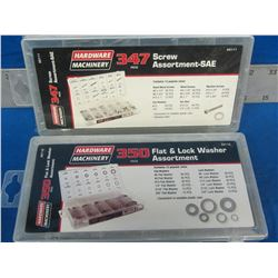 697 piece total screw and washer assortments
